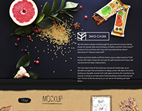 Eco-Snack Landing page for guys making healthy food