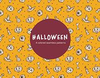 Halloween Vector Free Seamless Pattern