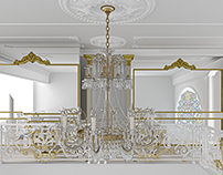 Classic luxury interior design and 3D visualiation