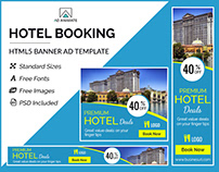 Hotel Booking Banner- HTML5 Banner Ad Templates