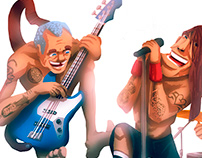 Red Hot Chilli Peppers - Character Design