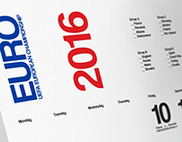 Uefa Euro France 2016 Wall Chart Calendar
