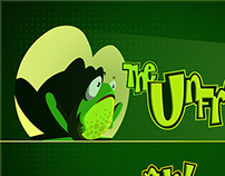 The Unfrogged - game splashscreen design