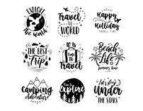 Free Travel Logo Set