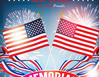 Memorial-Independence Day Flyer Template