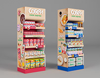 Pepsico display for breakfast