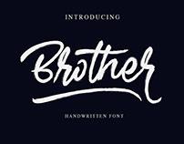 Free Brother Handwritten Font