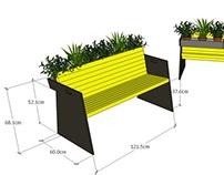 Flowers bench. Лавка с цветами.
