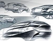 Luxury SUV of Genesis sketch