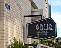 OBLIQ Arquitetura & Execução // Naming & Branding