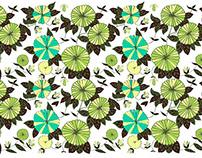 Block print designs for women's apparel