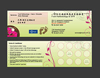 Foot Reflexology & SPA fold-able Name Card Design