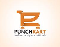 Logo for an Online Shopping Website called PunchKart