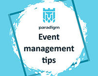 social media campaign about event management tips
