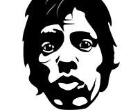 Mick Jagger vector illustration.