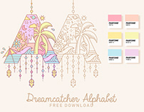 Free Dreamcatcher Alphabet Font