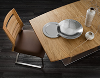 Dining table photography