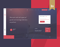 Logistics Corporate website | UX/UI Design