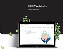 UI/UX Webdesign, concept of medical brand identity