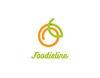Foodieline logo & app