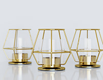 IKEA Candle Holders & Candles 3D Assets CGI