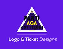 Party // Logo & Ticket Designs