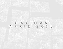 Maximus April 2016 Collection