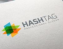 Colorful Hash Tag Logo