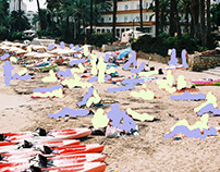 BEACHES POLLUTED OF PEOPLE