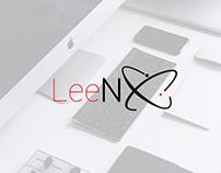 LeeNX logo design