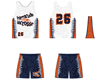 Lacrosse sports team uniforms and logo designs