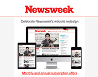 Email design - Newsweek solus