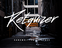 Retquizer - Handwritten Typeface