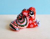 Polly the Horse Clay Sculpture