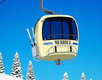 Meribel Ski Poster