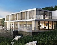 Captivating Villa Exterior Architectural Rendering