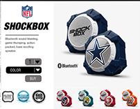 Product Design: Shockbox Speaker, branding, web layout