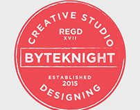 Byteknight Logo Designs | All Creative Round/Circle Log