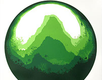 Mighty Mountain Screen print