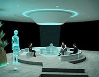 Futuristic conference room