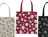 Bones pattern for tote bag