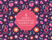 8 March International Women's Day Vector Patterns