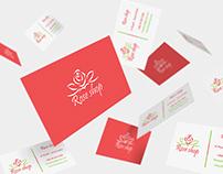 #Rose_shop تصميم بزنس كارد لمتجر بيع الازهار و الورد