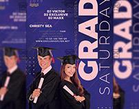 Grad Saturday Flyer - Club A5 Template