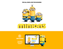 Landing page. Toys minions
