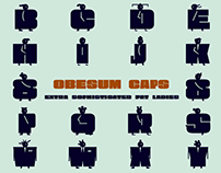 Obesum Caps -Ultra Fat Typeface-