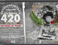 GoodHandTattoo 5th 420 Tattoo Day Poster!