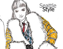 Promotional posters for Seattle Fashion Week
