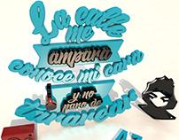 "Lettering 3D ""Tararea-AlcolirykoZ"""