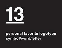 13 personal favorite logotype